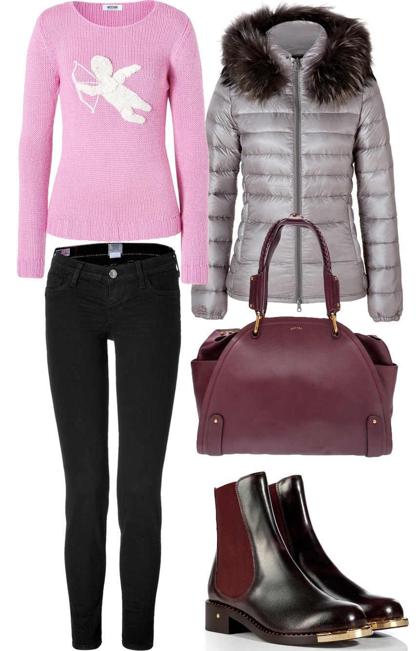 A casually elegant winter outfit for women from Unique Attire
